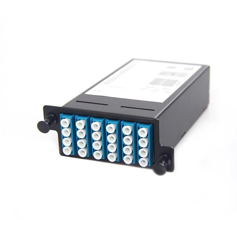24 Core MPO Box, 2 ports MPO to 2x 12 ports LC connectors, SMF