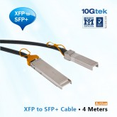 10GbE XFP to SFP+ Cable 4M, Active