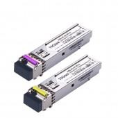 A Pair of 1.25G SFP BiDi Transceiver, 80km, Tx1310nm DFB or Tx1490nm DFB