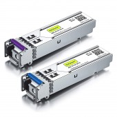 A Pair of 1.25G SFP BiDi Transceivers, up to 20 km