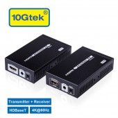 HDMI Extender 4K@60Hz HDBaseT Ethernet Network Extender 328-Ft (100M) over RJ45 CAT6 Cable
