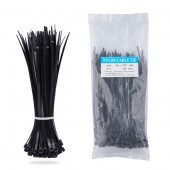 Nylon Zip Ties(100 pcs), 6 x 0.14 inch, Black, UL Certified